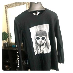 Topman Kurt Cobain Long Sleeved Tee